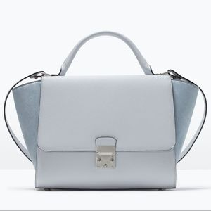 ZARA buckle city bag satchel crossbody combined